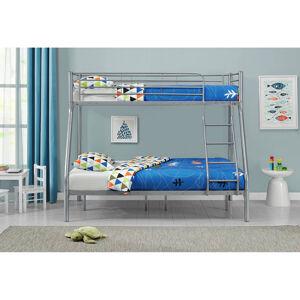 """Poschodová postel """"Jonas"""" stříbrná 90 x 190 cm"""