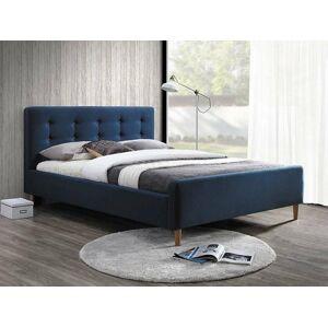 Čalouněná postel PINKO 160 x 200 cm barva modrá