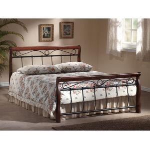 Kovová postel Venecja 180 x 200 cm antická třešeň / černá