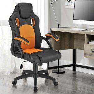 Kolečková kancelářská židle Montreal (oranžová)