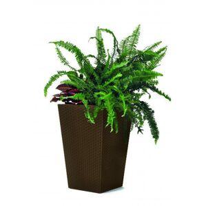 Keter Rattan planter S - hnědý