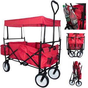 Skládací vozík s odnímatelnou střechou a pytlem